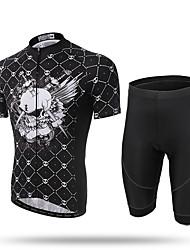 XINTOWN® Cycling Jersey Men's MTB Cycling Clothing Road Biking Shorts Padded Dark Skull