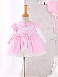 Baby Casual/Daily Solid Clothing Set,Lace Spring Fall
