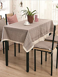 Wedding Thickening Grid Table Cloth Pastoral Cloth Table Tablecloth Large 90*90