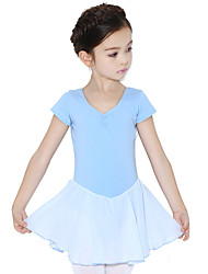 Danse classique Robes Enfant Entraînement Coton Volants 1 Pièce Manche courte Taille moyenne Robe