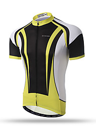 XINTOWN®Yellow Iron Man Men's Cycling Jerseys Short Sleeve MTB Cycle Bicycle Clothing Quick-Dry Racing Breathable Tops