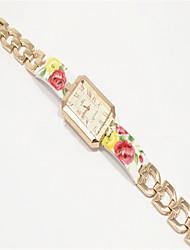 Fashion Watch Quartz Alloy Band Charm Rose Gold