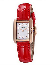 Women's Fashion Watch Quartz Water Resistant / Water Proof Stainless Steel Band Cool Casual Unique Creative White Red