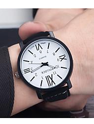 Masculino Mulheres Relógio Esportivo Quartzo / Couro Banda Vintage Preta Marrom