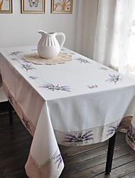 Rectangulaire Brodé Nappes de table , Coton mélangé MatérielDécoration Soirée Mariage Mariage Banquet Décorations de Noël Tableau