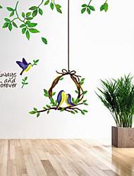 Floral Stickers muraux Autocollants avion Autocollants muraux décoratifs,Vinyle Matériel Décoration d'intérieur Calque Mural