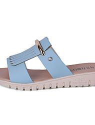 flâneurs&glisser-ons semelles légères bureau de similicuir d'été&robe de carrière casual talon plat métallique pied à pied