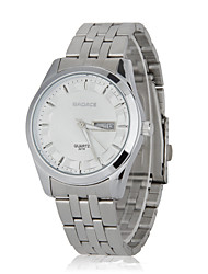 Personality Contracted High Waterproof Double Business Calendar Quartz Watch