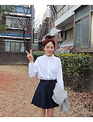корейская версия новой ретро диких рубашки воротник рубашки дна рубашки