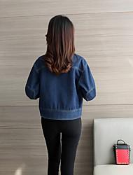 assinar bolso grande bf soltas mulheres jaqueta jeans versão coreana parágrafo curto de jaqueta casual grandes estaleiros camisa de manga