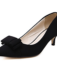 Women's Heels Spring Other Fleece Dress Kitten Heel Bowknot Black Gray