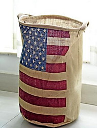 Storage Boxes Storage Bags Storage Baskets Textile withFeature is Open  For Underwear Cloth American Flag Jute Barrels