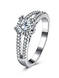 Ringe Hochzeit Party Besondere Anlässe Alltag Normal Schmuck Sterling Silber Zirkon Ring 1 Stück,6 7 8 Silber