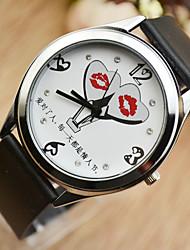 Women's Wrist watch Quartz Leather Band Black