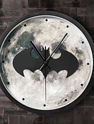 3D Bat Modern/Contemporary Houses Wall ClockNovelty Acrylic Metal Wood 30 Indoor Clock