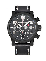 Sport Watch / Quartz Leather Band Black Brown