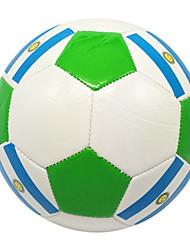Football(Blanc Vert,PVC)Haute élasticité Durable