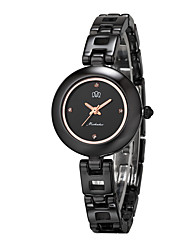 Smart Watch Quartz Céramique Bande Noir Blanc