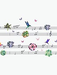 Animales Música De moda Pegatinas de pared Calcomanías de Aviones para Pared Calcomanías Decorativas de Pared,Vinilo MaterialDecoración