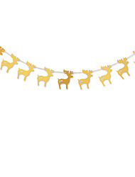 RayLineDo® 1 Piece Gold Garland For Wedding Birthday Anniversary Party Christmas Girls Room Decoration Deer Shape