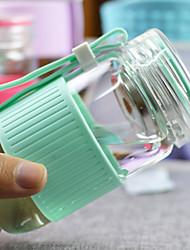 Transparent Classic Outdoor Drinkware, 280 ml Ergonomic Design Portable Glass Polypropylene Coffee Water Water Bottle