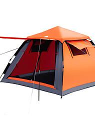 3-4 человека Световой тент Двойная Семейные палатки Двухкомнатная Палатка ПолиэстерВодонепроницаемый Воздухопроницаемость