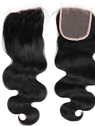 Vinsteen 7a Unprocessed Brazilian Hair Straight 3Bundles with Lace Closure Brazilian Hair Bundles Natural Color Dyeable Tangle and Shedding Free