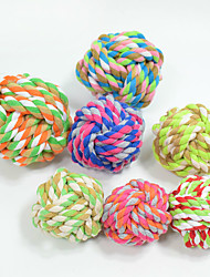 Cat Toy Dog Toy Pet Toys Ball Chew Toy Interactive Teeth Cleaning Toy Rope Durable Elastic Cartoon Woven Halloween Cotton