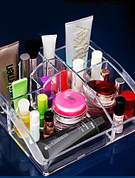 9 Cells Acrylic Cosmetic Storage Box Holder 25*22*10CM Makeup Organizer