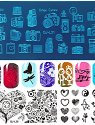 10pcs/lot  Manicure Printing Plate Template DIY Blue Nail Printing Film