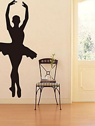Cartoon Yoga Museum Fitness Wall Sticker Vinyl Material Home Decoration