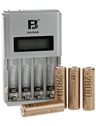 FB FB918 AA Nickel Metal Hydride Rechargeable Battery 1.2V 4 Pack