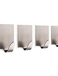 4 Pcs Hooks / BrushedStainless Steel /Contemporary Hook Set