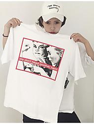 личность портрет ретро печати короткий рукав свободно тройник знак