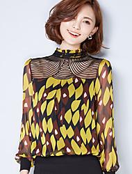 подписать новый кружева вышитые цветочные шифона шить большой размер небольшой рубашки дна рубашки блузки