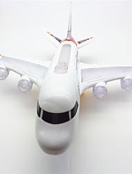 Iluminação de LED Brinquedos Criativos & Pegadinhas Aeronave Plástico Branco Para Meninos Para Meninas