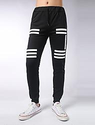 Hombre Corte Ancho Delgado Chinos Pantalones de Deporte Pantalones,Estampado Casual/Diario Deportes Sencillo Activo Tiro MedioCorrea