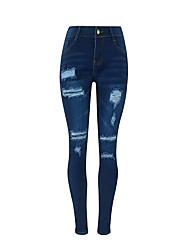 The new European and American fashion Slim pants feet pants hole jeans AliExpress explosion models