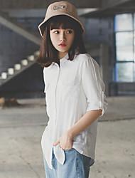 real shot! Stelle! die neue Frühjahr 2017 Theater Fan xiaoqing zwei Arten oder abgenutzte Langarmhemd Bluse