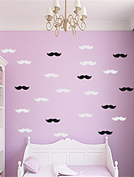 AYA DIY 30pcs Letter Mustache Wall Stickers Wall Decals For Decoration Home Art Stickers