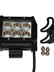 1 Pack 18W LED Work Light 1 Pack Including 3PCS 18W Spot LED Work Light and 3PCS Flood LED Work Light White Color