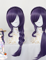 LOVELIVE Wig Tojo Nozomi Cosplay Wig Love Live For Women Heat Resistant Synthetic Curly Hair New Purple Party Custome Fashion Hair