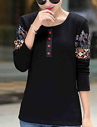 Plus thick velvet backing shirt large size women Qiuyi warm jacket outer wear loose cotton long-sleeved t-shirt