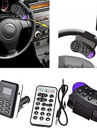 multifuncionais mãos Bluetooth Car - mp3 player carregador kit transmissor fm / telefone gratuito com apontar círculo