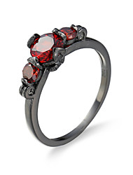 Finger Ring for Lady Paved Cz Zircon Luxury Hot Princess Women Wedding Engagement Ring Red Finger Ring