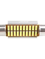 ZIQIAO 41MM 20 SMD LED 4014 CANBUS Car Festoon Interior Light Bulbs(12V/2PCS)