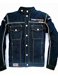 Free-Yogin Motorcycle Jacket / Leisure Collar Denim Jacket / Unisex Riding Jacket