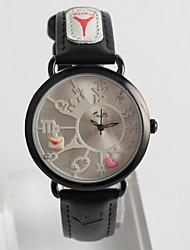 Women's Fashion Watch Quartz / PU Band Casual Black Brand