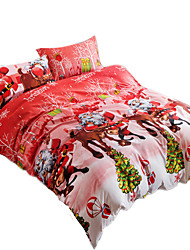 Mingjie 3D Reactive Red and Pink Bedding Sets 4 Pcs for Queen Size Contain 1 Duvet Cover 1 Bedsheet 2 Pillowcases from China