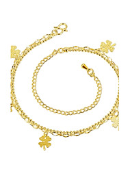 Anklet/Bracelet Bowknot Natural Friendship Turkish Fashion Vintage Bohemia Punk Hip-Hop Copper Silver Plated Gold PlatedSilver Yellow